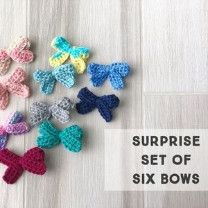 Other - Six Hair Bow Set - Surprise Bag, Girls Hair Bows